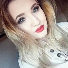 Christmas makeup ,usta : russian red Mac, konturowka Brick Mac