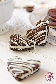 Czekoladowe markizy jak ciasteczka oreo - Wypieki Beaty
