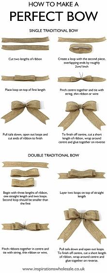 Jak zrobić idealną kokardę....