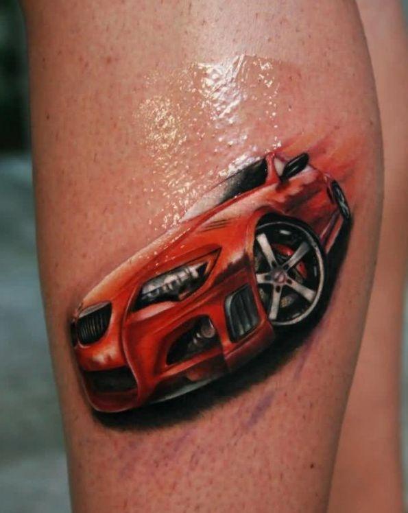 Czerwony Samochód Na Tatuaże Zszywkapl