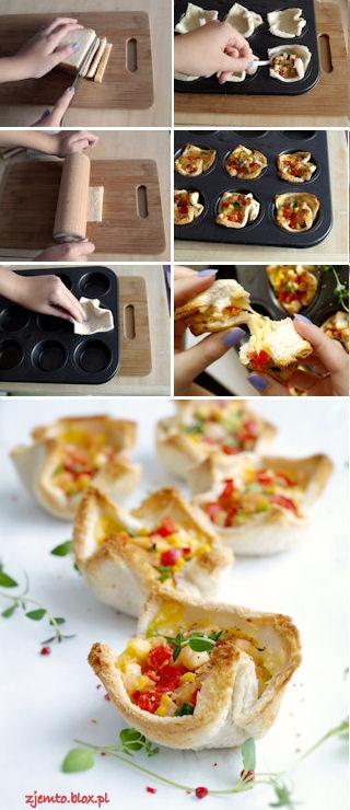 Koszyczki z tostów - świetna przekąska na sylwestra! Przepis po kliknięciu w zdjęcie.