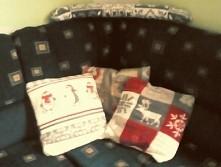 Wystrój świąteczny łóżka