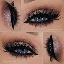 Piękny makijaż i oczy