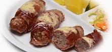 Mielone pieczone w szynce parmeńskiej. Składniki      mięso wieprzowe 1/2 kg ...