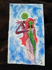 Jack Skellington and Sally z filmu animowanego Tima Burtona