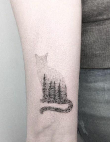 Tatuaż Kot Na Tatuaże Tattoo Zszywkapl