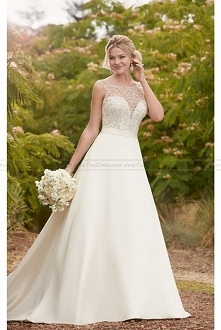 Essense of Australia Traditional Ball Gown With Embellished Boat Neck Style D...