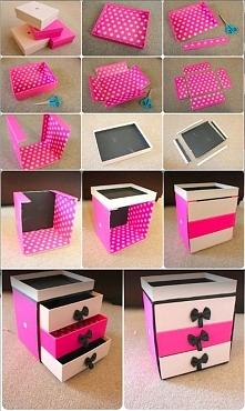 DIY- organizer z szufladkami