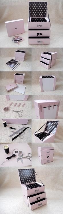 Uroczy, bardzo stylowy organizer-zrób to sama!
