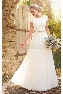 Essense of Australia Modest Luxe Boho Wedding Dress Style D2304