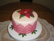 Tort w świątecznym klimacie :)