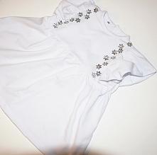 słodka biała sukienka ze zs...