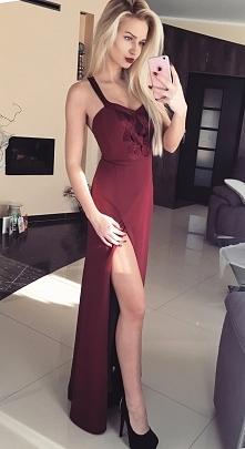 Maxi bordowa sukienka <3 <3 <3