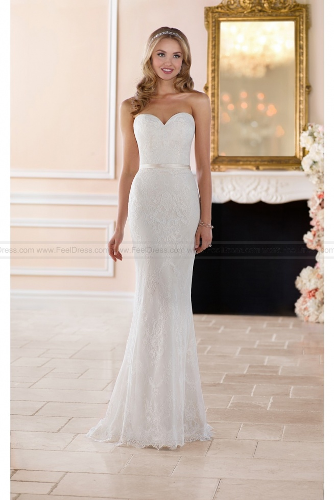 Stella York Classic Lace Sheath Wedding Gown Style 6350