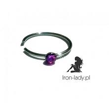 Kolczyk do nosa srebrne kółko z różowym kryształem dostępne na iron-lady.pl Link po kliknięciu w zdjęcie :)