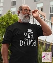 Koszulka Tshirt z nadrukiem Super Dziadka Dzień Dziadka