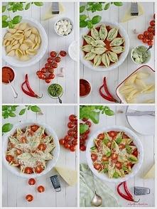 Muszle makaronowe z mozzarellą, ricottą, pesto i pecorino. Pyszna serowa rozpusta!!!