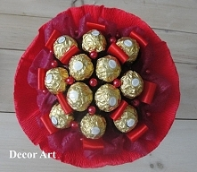 Bukiecik z 12 szt. Ferrero Rocher dostępny na zamówienie