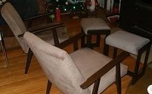 jak zrobić podnóżki do foteli ze starych taboretów