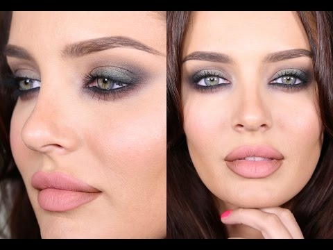 Date Night Smokey Eye w Green & Maroon Accents! Talk Through Tutorial!