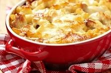 Zapiekanka z makaronem i mięsem mielonym i zupa cebulowa składniki: -paczka m...