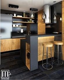 elegancka , lekko industrialna kuchnia projektu Morphina Studio :)