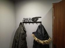 Tam są drzwi! - wieszak na ubrania art-steel.pl