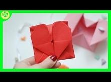 Idealny prezent walentynkowy - śliczna koperta w kształcie serduszka! Jak ją ...