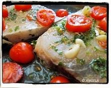 Ryba w pomidorkach z piekarnika (po przepis, kliknij na foto)