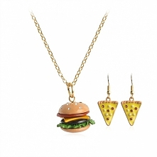 Naszyjnik hamburger i kolcz...