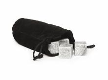 Granitowe kamienie chłodzące do whiskey 9 szt., w zestawie z torebką do przechowywania. Idealna alternatywa dla topniejącego lodu.