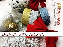 ☃ ❅ ALIEXPRESS| Brokatowe taśmy, czerwone kokardki i bombki, czyli ozdoby świąteczne ❅☃
