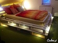 łóżko z palet ;)