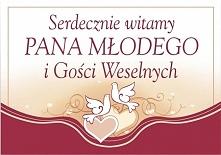 Baner, wesele, plakat do wieszania w domu Panny Młodej