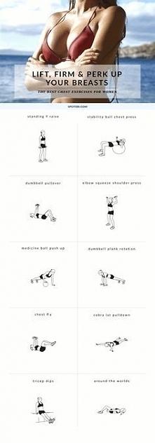 Ćwiczenia unoszące i ujędrniające piersi