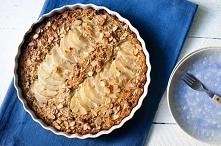 ŚNIADANIOWA ZAPIEKANKA- płatki owsiane i kasza quinoa zapiekana z gruszką i c...