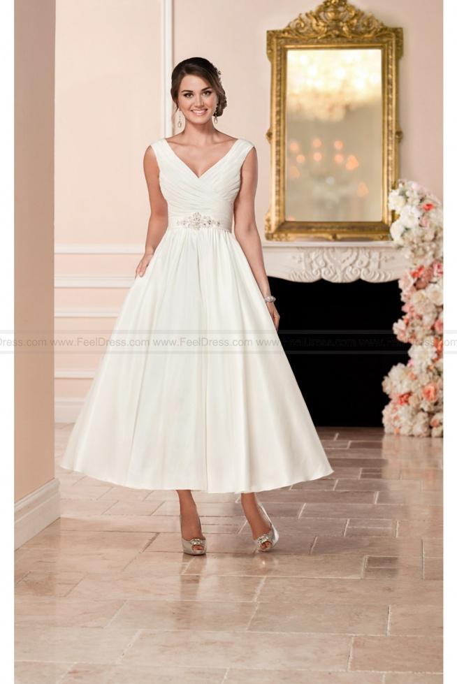 Stella York Short Satin Wedding Dress Style 6356