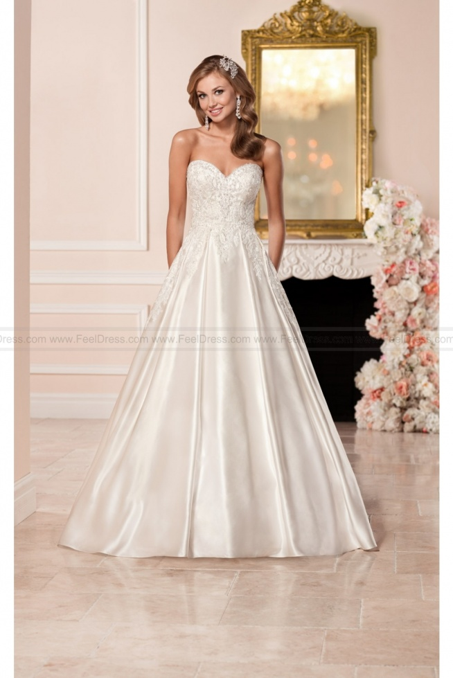 Stella York Satin Wedding Dress With Sweetheart Neckline Style 6306