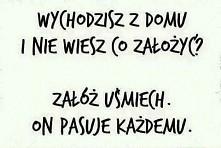 uśmiech! podstawa :)