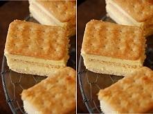 Krakersik ♥♥♥ Pyszny bez pieczenia !!! Składniki: 2 opakowania słodych krakersów, 1 litr mleka, 3/4 szklanki cukru, 1 opakowanie cukru waniliowego, 1/3 szklanki mąki ziemniaczan...