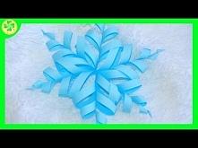 Filmik instruktażowy ukazujący proces powstawania prześlicznej, papierowej, zakręconej śnieżynki! ;)