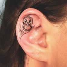 tatuaż - sowa