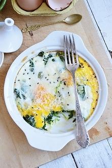 jajka, szpinak i grana padano <3