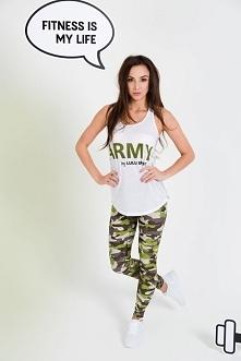 Idealne spodnie sportowe moro na siłownie lub fitness. Wykonane z najwyższej jakości materiałów. Projektowane oraz szyte w Polsce. Legginsy sportowe z wojskowym motywem moro.