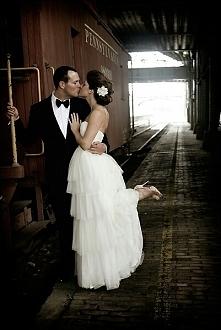Piękne zdjęcie z sesji ślubnej