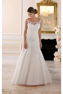 Stella York Floral Lace Wed...