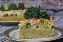 Pyszna zapiekanka - torcik ziemniaczano-brokułowy
