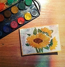 moja handmade kartka na  Dzień Babci :)