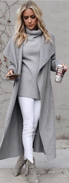 Zimowa stylizacja szary płaszcz od kika881 z 16 stycznia - najlepsze stylizacje i ciuszki