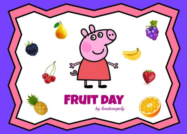 Nietypowa lekcja o owocach ze świnką Peppą i kubkiem termicznym.